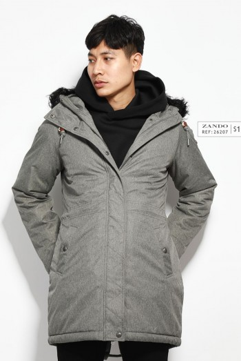 Men Long Sleeves Hooded Coats