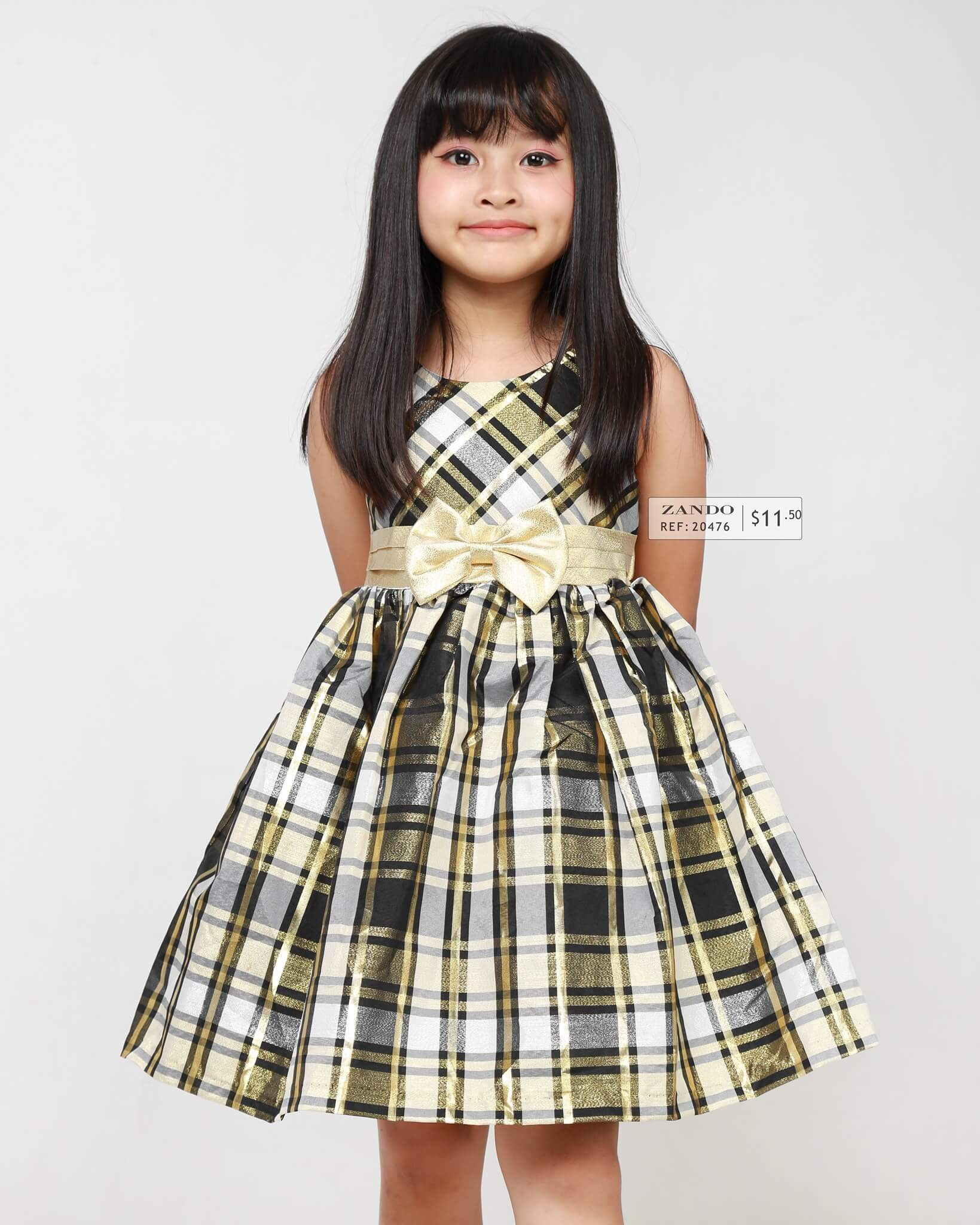 Kids Jersey Dress With Bow