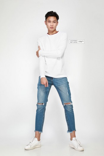 Ten11 Men Long Sleeves Sweater Shirt