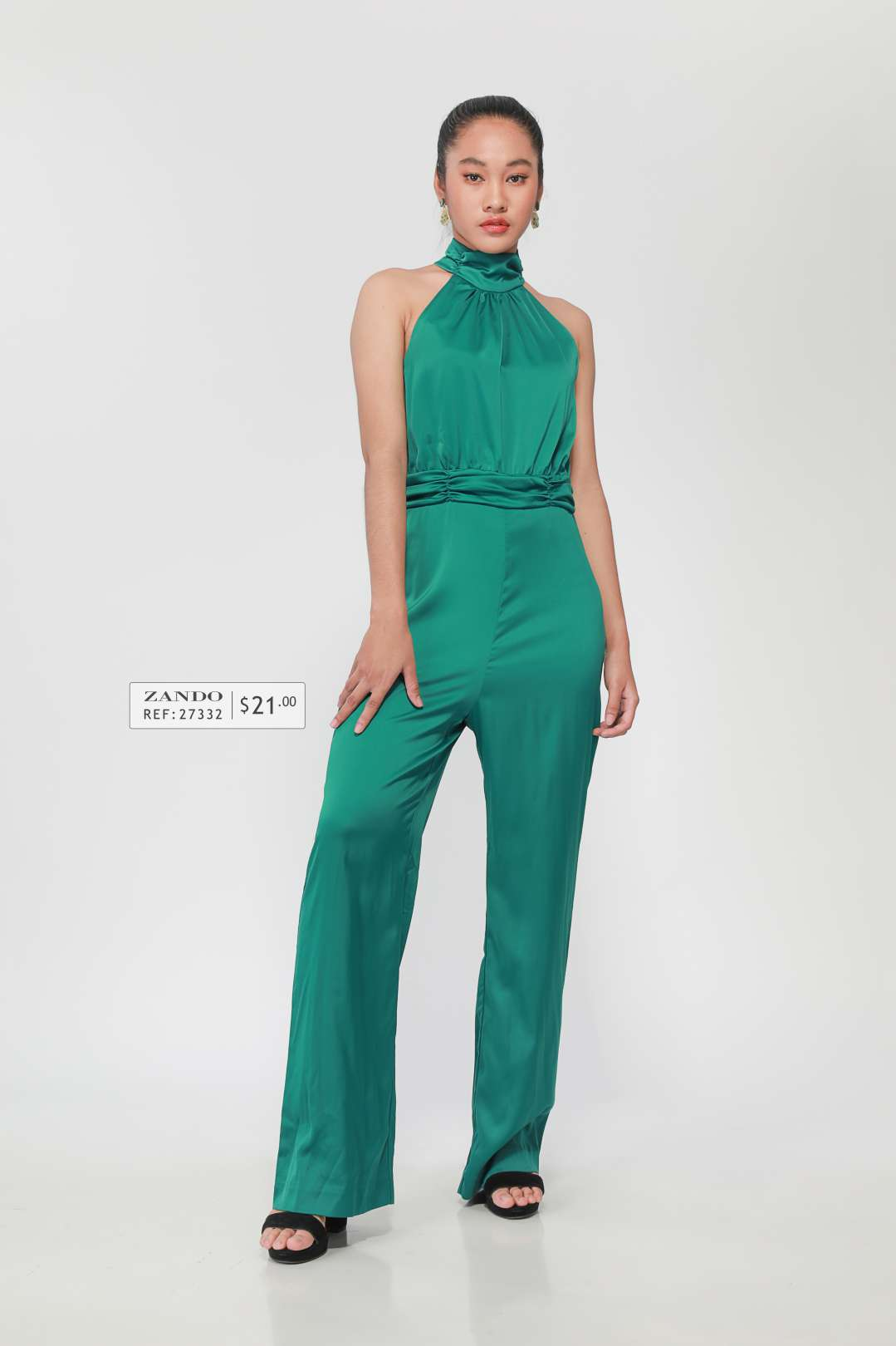 Lady Open Back Long Jumpsuit