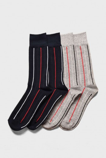 Striped Long Sock Sets (2 Pairs)