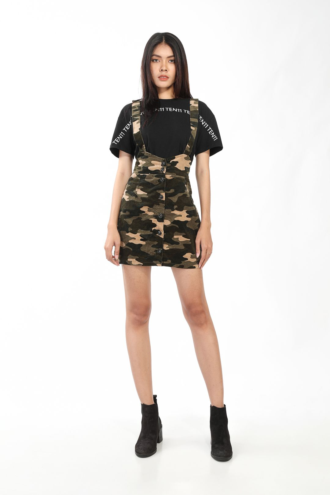 Ten11 Lady Camouflage Strappy Jumpsuit