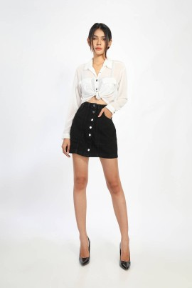 Ten11 Lady Denim Short Skirt
