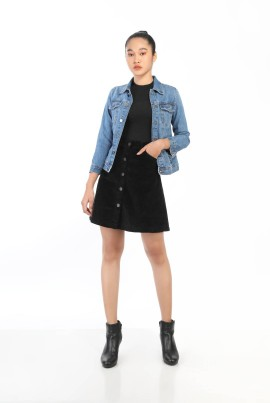 Lady Velvet Short Skirt