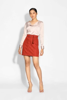 Ten11 Lady Velvet Short Skirt