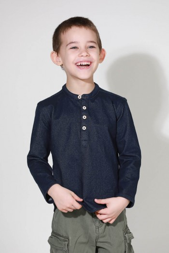 Kids Long Sleeves Henley Shirt
