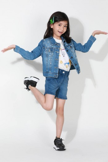 Kids Long Sleeves Denim Jacket