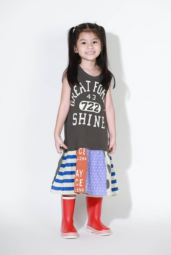 Kids Short Sleeves Dress