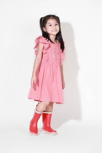 Kids Embroidered Jersey Dress