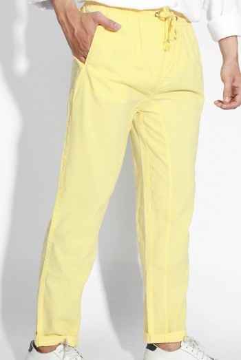 Men Loose-Fit Linen Pants