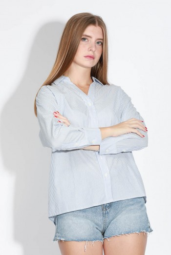 Ten11 Lady Long Sleeves Striped Shirt