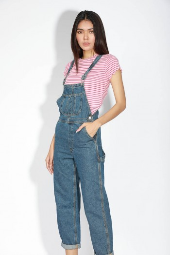 Lady Denim Long Jumpsuits