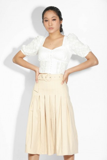 Ten11 Lady Midi Skirt With Belt