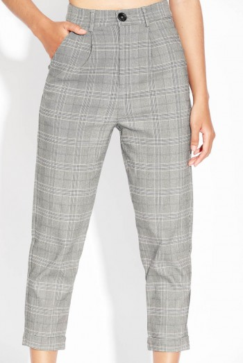 Ten11 Lady Checked Suit Pants