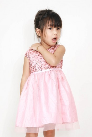 Kids Lace Jersey Dress