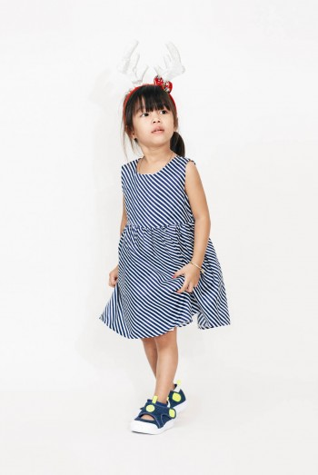 Kids Striped Jersey Dress