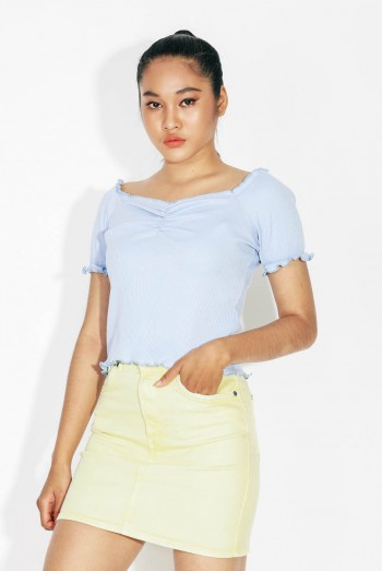 Ten11 Lady Short Sleeves Off-The-Shoulder Blouse