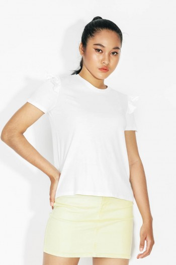 Ten11 Lady Short Sleeves Ruffled T-Shirt