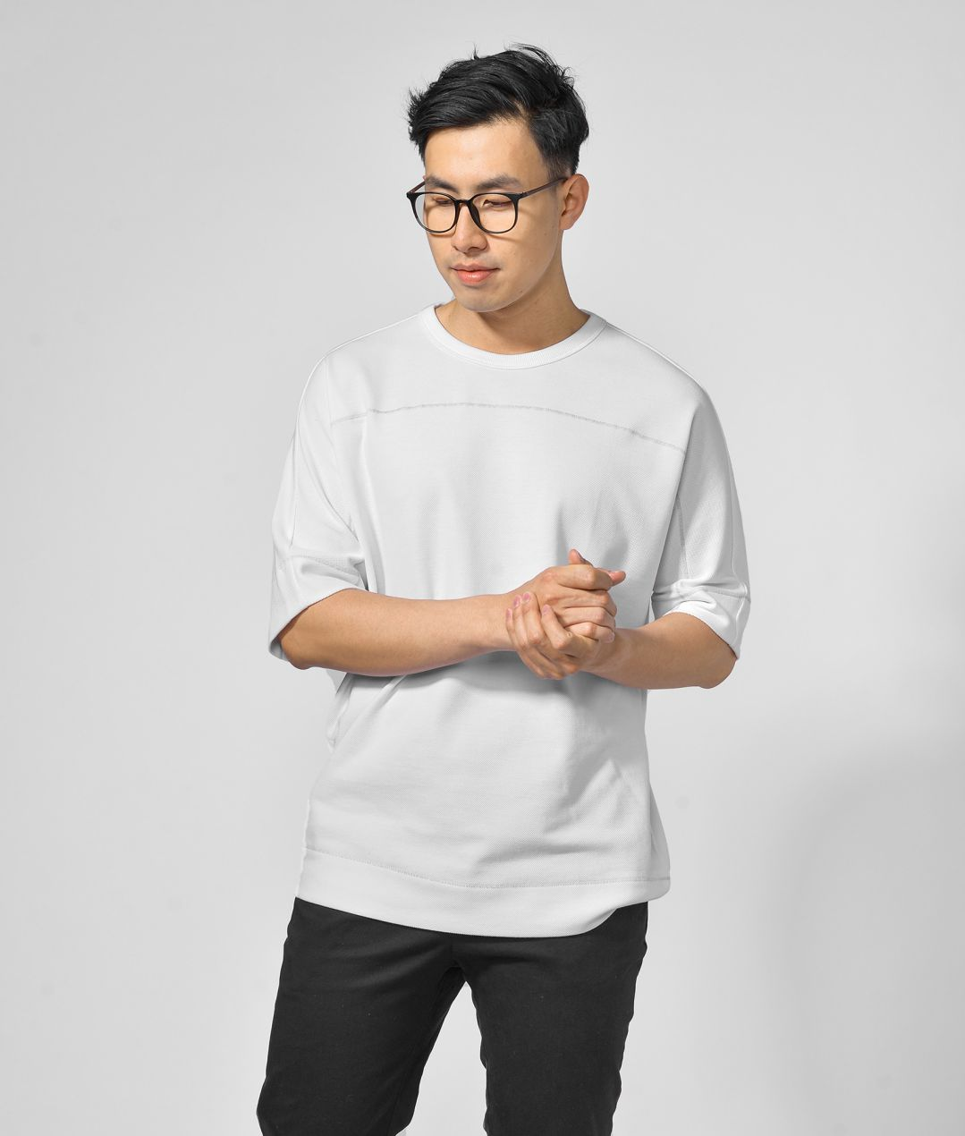 Men Short Sleeves Sweater Shirt