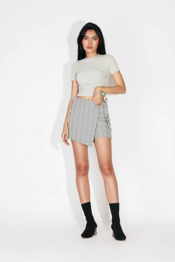 Ten11 Lady Checked Shorts