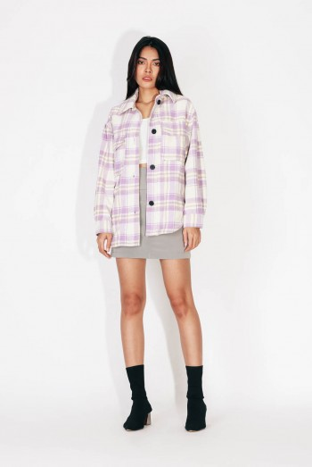 Ten11 Lady Long Sleeves Checked Jacket