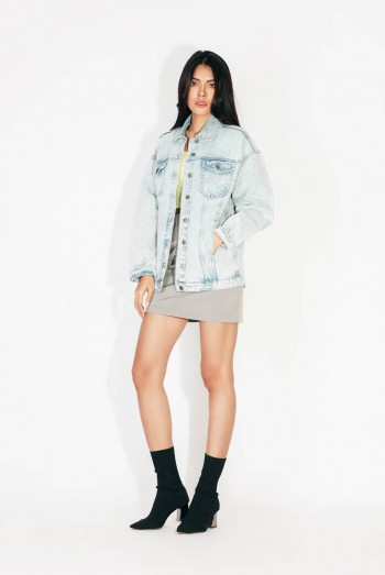Ten11 Lady Long Sleeves Denim Jacket