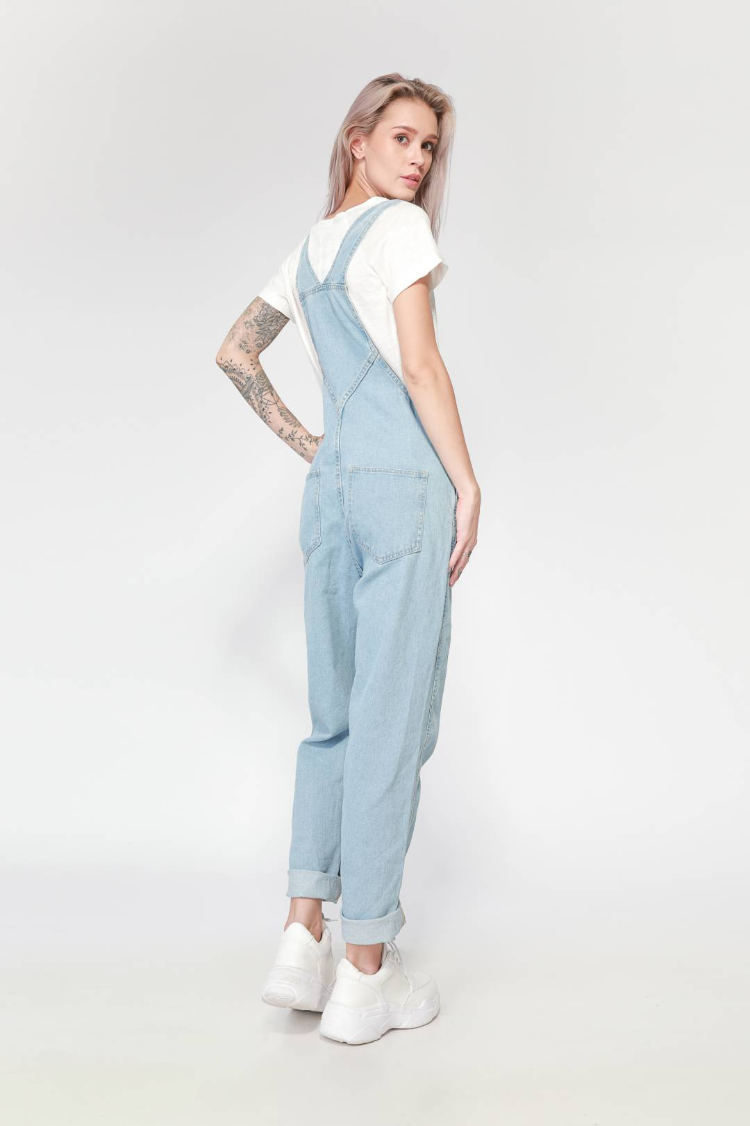 Lady Denim Long Jumpsuit